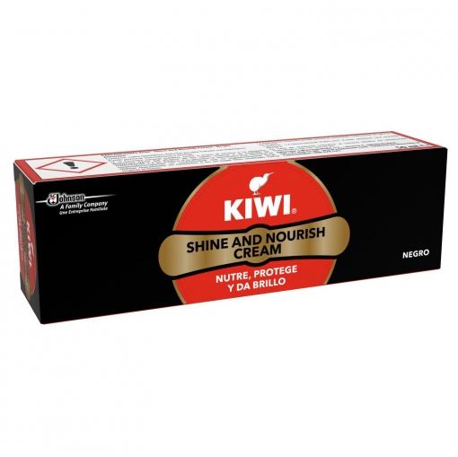Betún tubo negro Kiwi 75 ml.