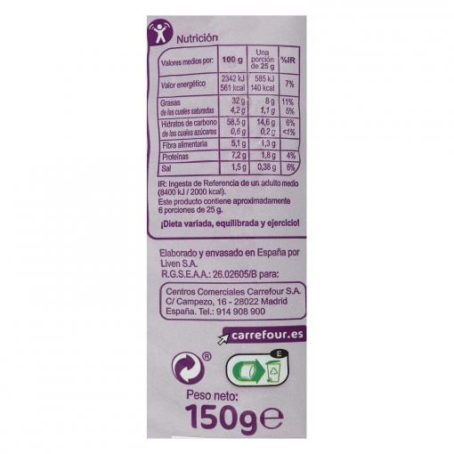 Tiras de maíz sabor barbacoa Carrefour 150 g.