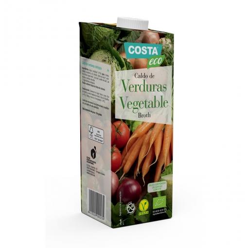 Caldo de verduras ecológico Costa Eco sin gluten 1 l.