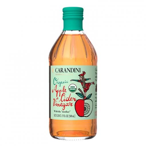 Vinagre ecológico de manzana Carandini 500 ml.