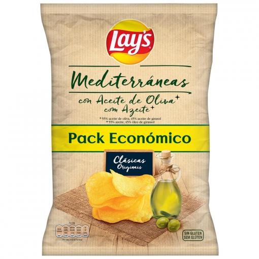 Patatas fritas mediterráneas en aceite de oliva Lay's 220 g.