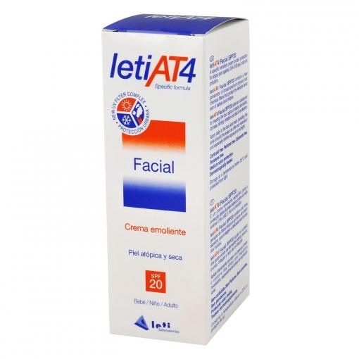 Crema emoliente facial letiAT4 FP 20 Leti Laboratorios 50 ml.