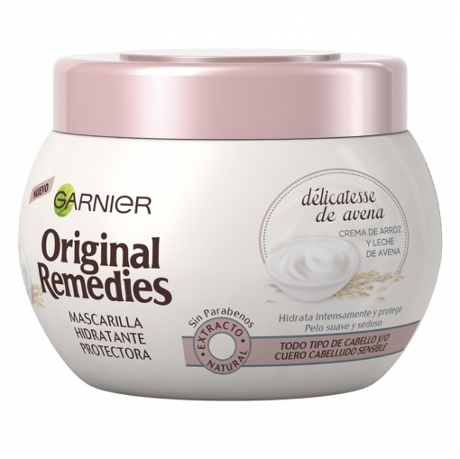 Aprovechar lente Publicación  Mascarilla capilar protectora hidratante délicatesse de avena Garnier  Original Remedies 300 ml. | Carrefour Supermercado compra online