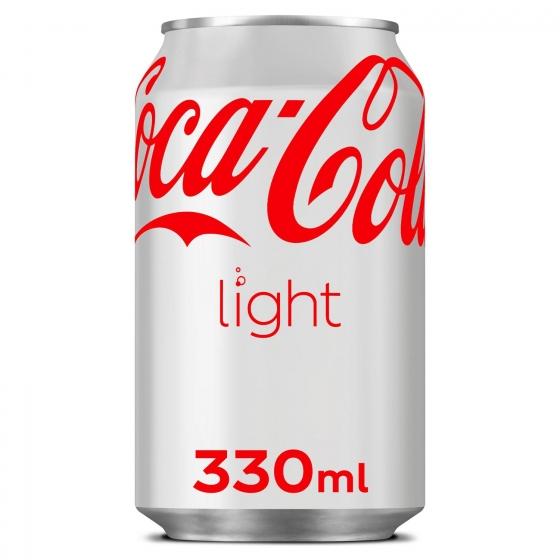 Refresco de cola Coca Cola light lata 33 cl.
