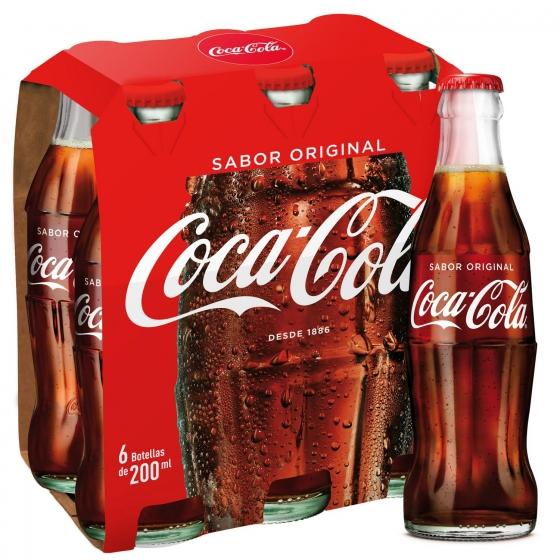 Refresco de cola Coca Cola pack de 6 botellas de 20 cl. - 1