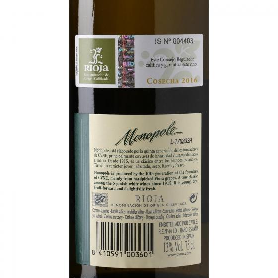 Vino D.O. Rioja blanco Monopole 75 cl. - 3