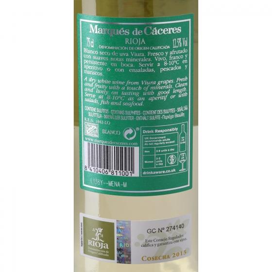 Vino D.O. Rioja blanco Marqués de Cáceres 75 cl. - 3