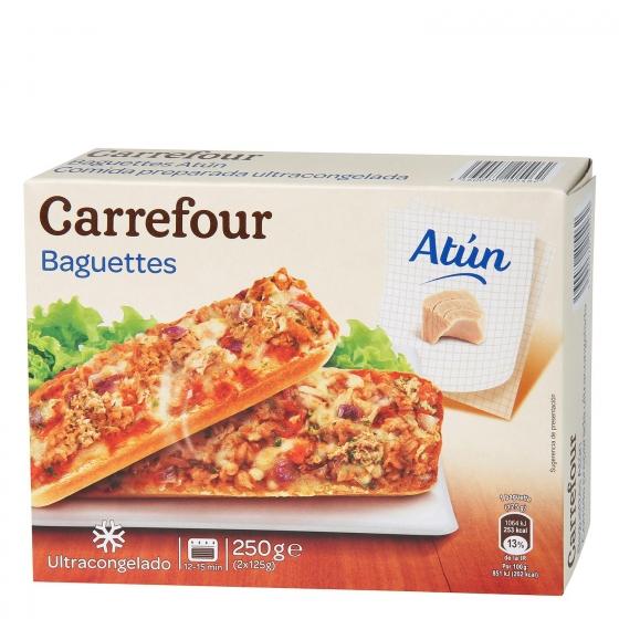 Baguettes de atún Carrefour pack de 2 unidades de 125 g.