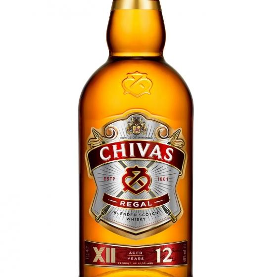 Whisky Chivas Regal escocés 12 años 70 cl. - 1