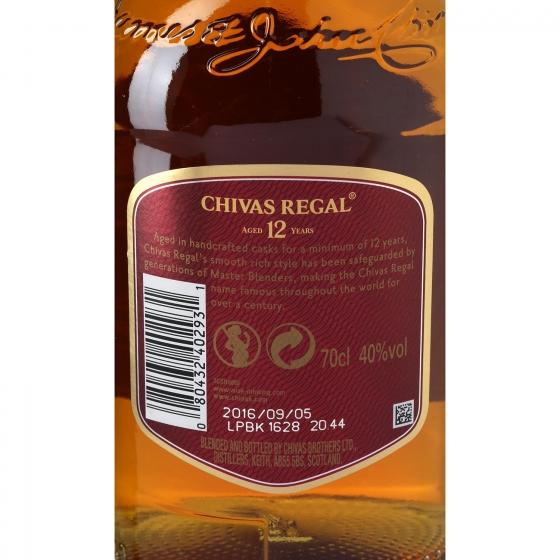 Whisky Chivas Regal escocés 12 años 70 cl. - 4