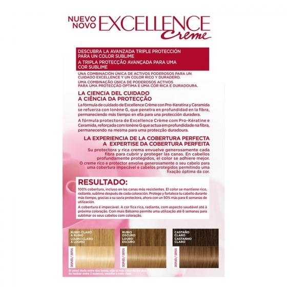 Tinte creme nº 9 Rubio Claro Claro L'Oréal Excellence 1 ud. - 3