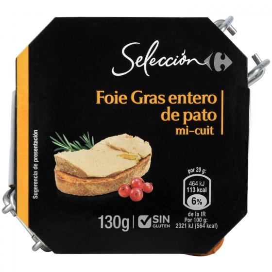 Foie gras entero de pato Carrefour Selección sin gluten 130 g. - 4