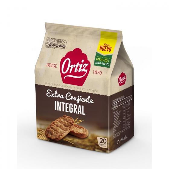 Panecillos integrales tostados Ortiz 225 g.