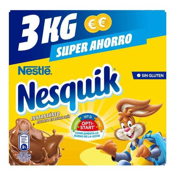 Cacao soluble instantáneo Nestlé Nesquik sin gluten 3 kg. - 3