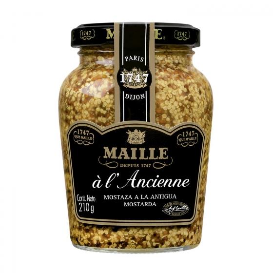 Mostaza a la antigua Maille tarro 210 g.