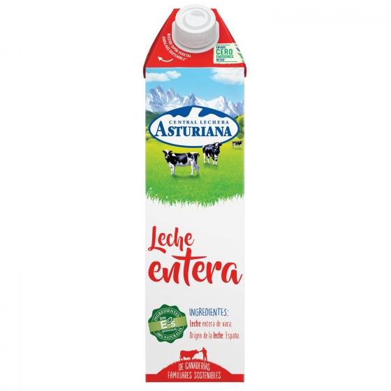 Leche entera Central Lechera Asturiana brik 1 l.