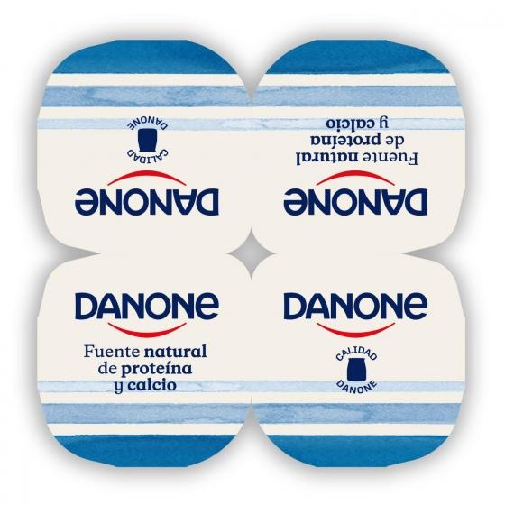 Yogur natural Danone pack de 4 unidades de 125 g. - 1