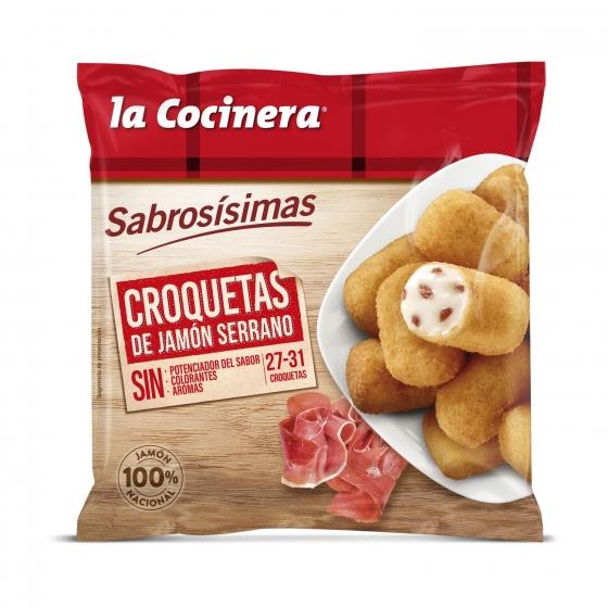 Croquetas de jamón serrano La Cocinera 500 g.