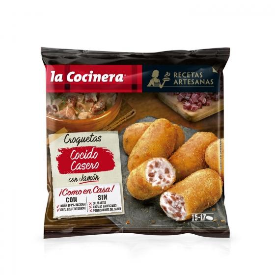 Croquetas de cocido casero con jamón serrano 'Recetas Artesanas' La Cocinera 500 g.