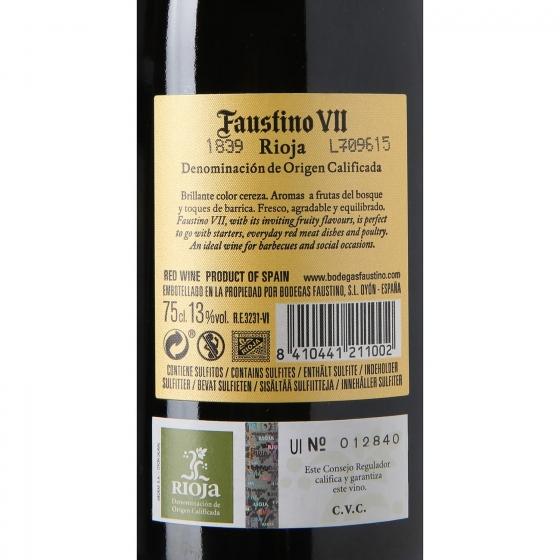 Vino D.O. Rioja tinto Faustino VII 75 cl. - 3