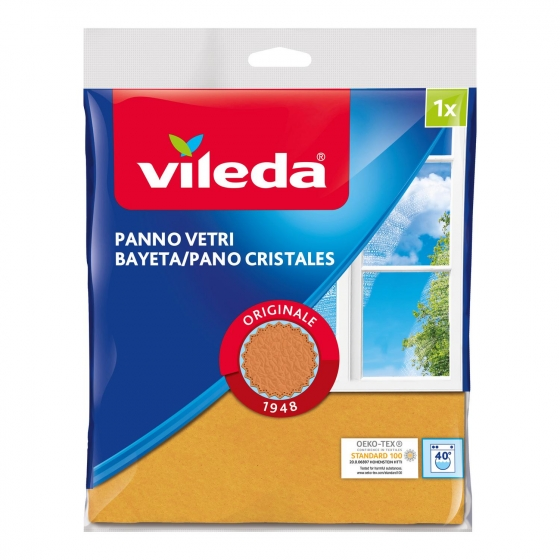Bayeta cristales con 30% microfibras VILEDA  - Naranja