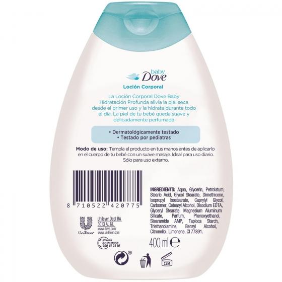 Loción corporal hidratación profunda Baby Dove 400 ml. - 3