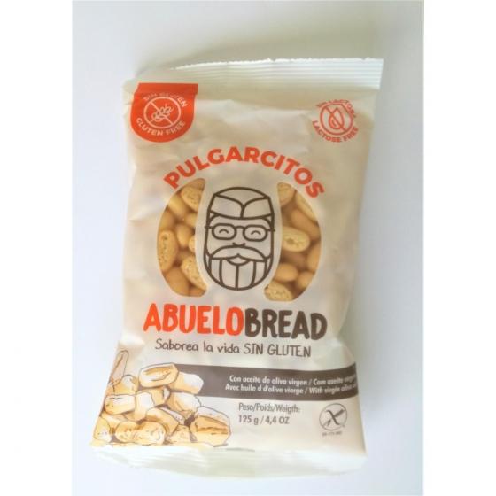 Pulgarcitos Abuelobread sin gluten y sin lactosa 125 g.