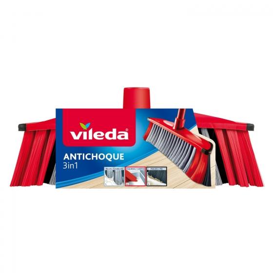 Cepillo Multiusos 3in1 antichoque VILEDA  - Rojo