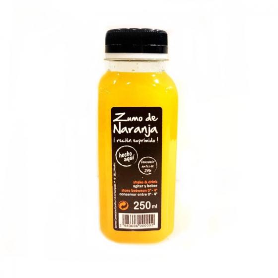 Zumo naranja recién exprimido Carrefour 250 ml.