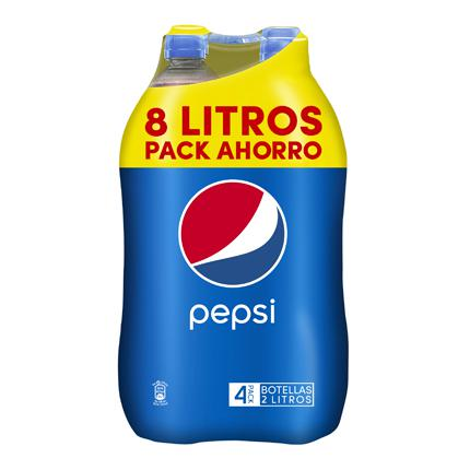Refresco de cola Pepsi pack de 4 botellas de 2 l.