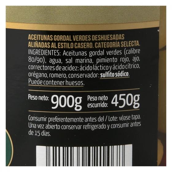 Aceitunas gordal sin hueso aliñadas al estilo casero Fragata 450 g. - 3