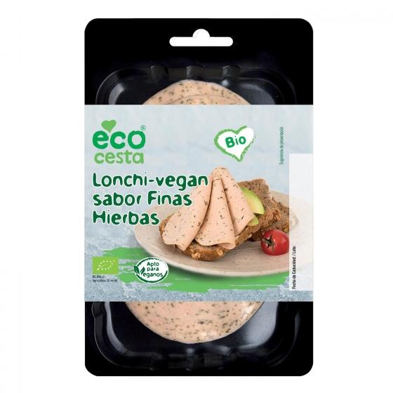 Lonchas veganas sabor finas hierbas ecológicas Ecocesta 100 g.