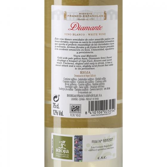 Vino D.O. Rioja blanco semi-dulce Diamante 75 cl. - 3
