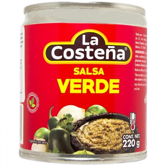 Salsa mexicana verde La Costeña lata 220 g.