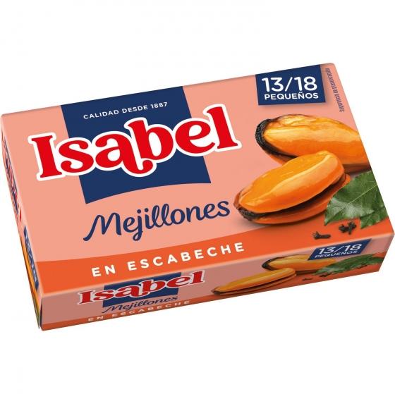 Mejillones en escabeche 13/18 Isabel 69 g.