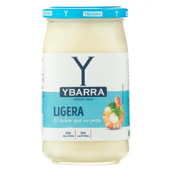Mayonesa ligera Ybarra sin gluten y sin lactosa tarro 450 ml.
