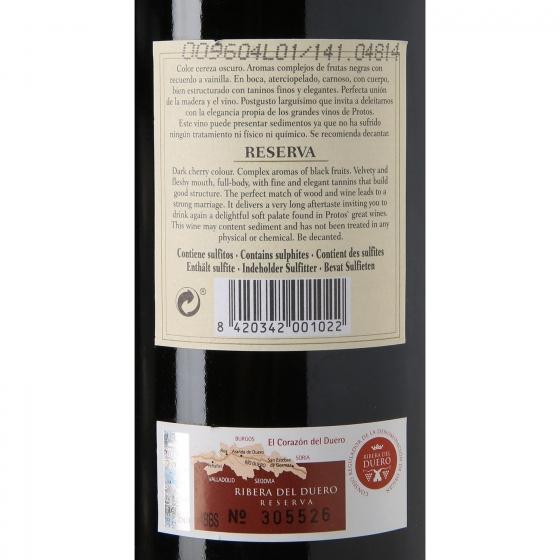 Vino D.O. Ribera del Duero tinto reserva Protos 75 cl. - 3