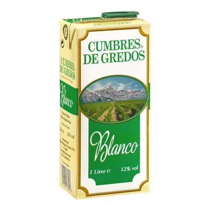 Vino blanco de mesa Cumbre de Gredos brik 1 l.