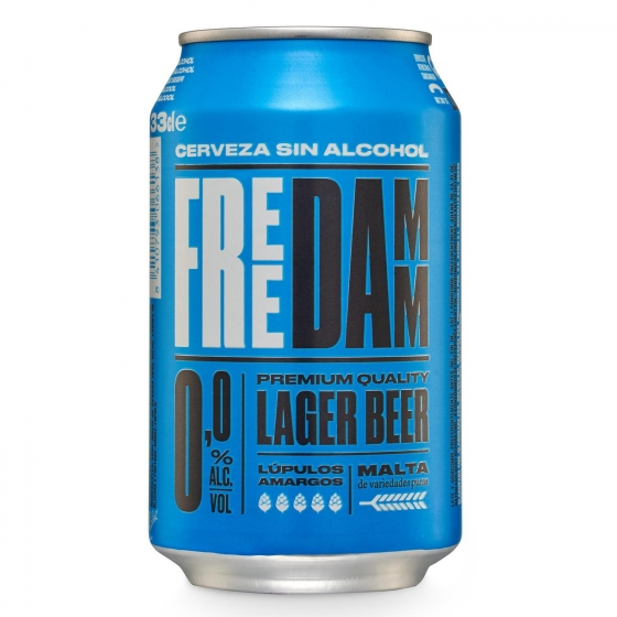 Cerveza Free Damm Lager 0,0 sin alcohol lata 33 cl.