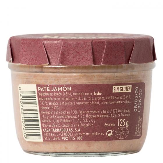 Paté de jamón Casa Tarradellas 125 g. - 1