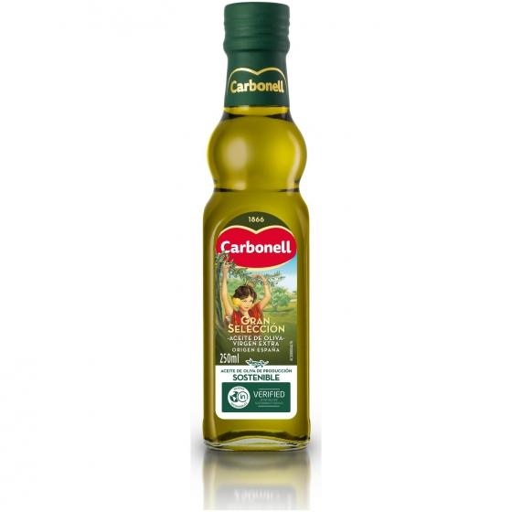 Aceite de oliva virgen extra gran selección Carbonell 250 ml.