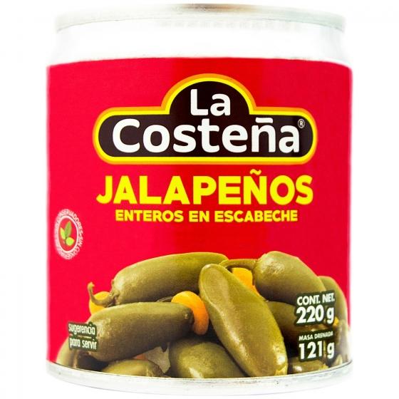 Jalapeños enteros en escabeche La Costeña 121 g.