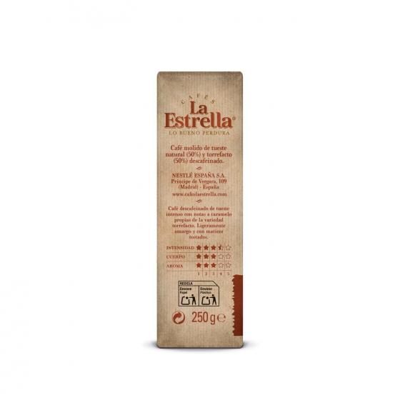Café molido mezcla descafeinado La Estrella 250 g. - 1