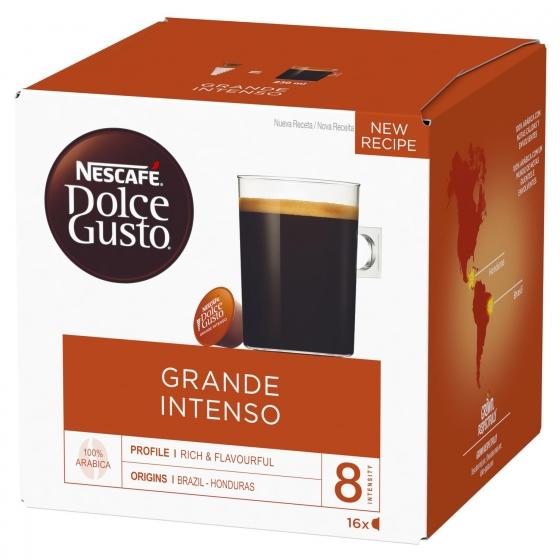 Café grande intenso en cápsulas Nescafe Dolce Gusto 16 unidades de 10 g.