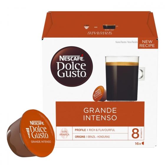 Café grande intenso en cápsulas Nescafe Dolce Gusto 16 unidades de 10 g. - 1