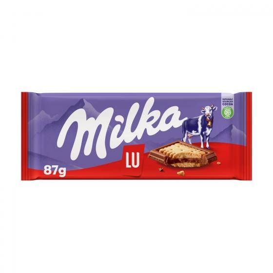 Chocolate con galleta Lu Milka 87 g.