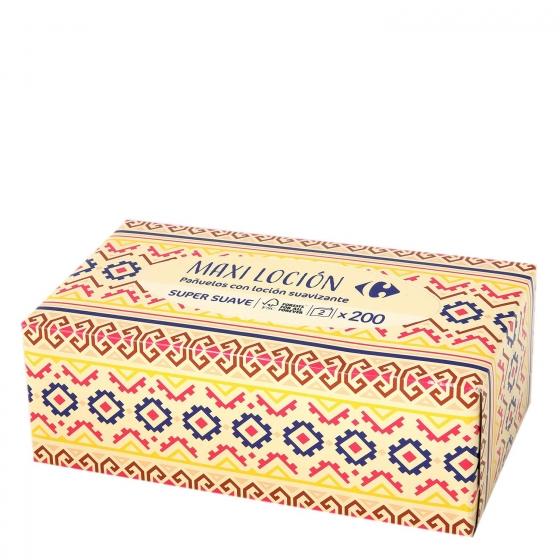 Pañuelos con loción suavizante Carrefour 200 ud.