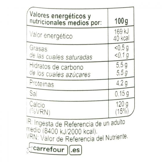 Yogur bífidus desnatado edulcorado natural Carrefour pack de 4 unidades de 125 g. - 3