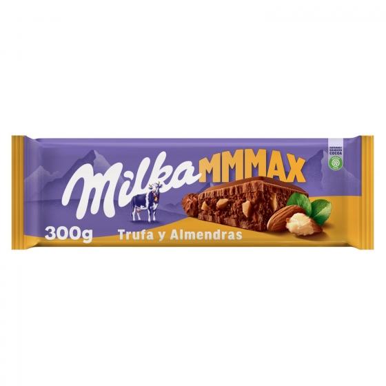 Chocolate con leche relleno de trufa y almendras Max Milka 300 g.