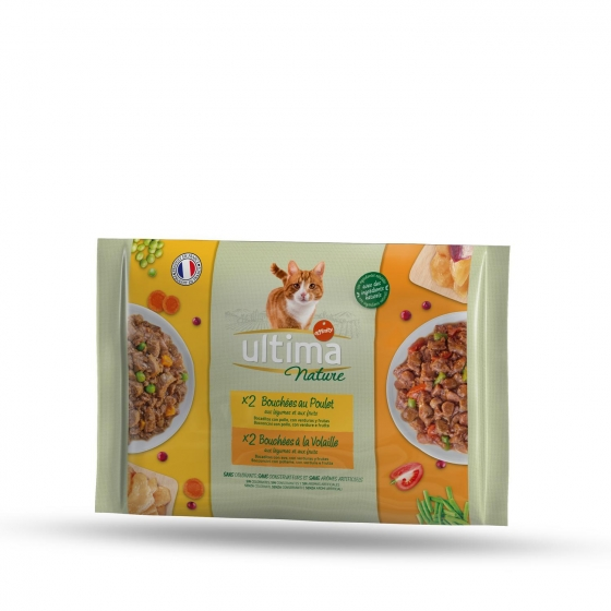 Ultima Nature Gato Wet Multipack Pouch Pollo y Aves 4 x 85 grs - 1